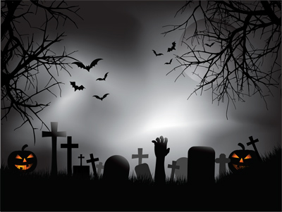 Scary halloween yard decoration ideas - Zombie Graveyard Mural Stock Photos Murals Your Way